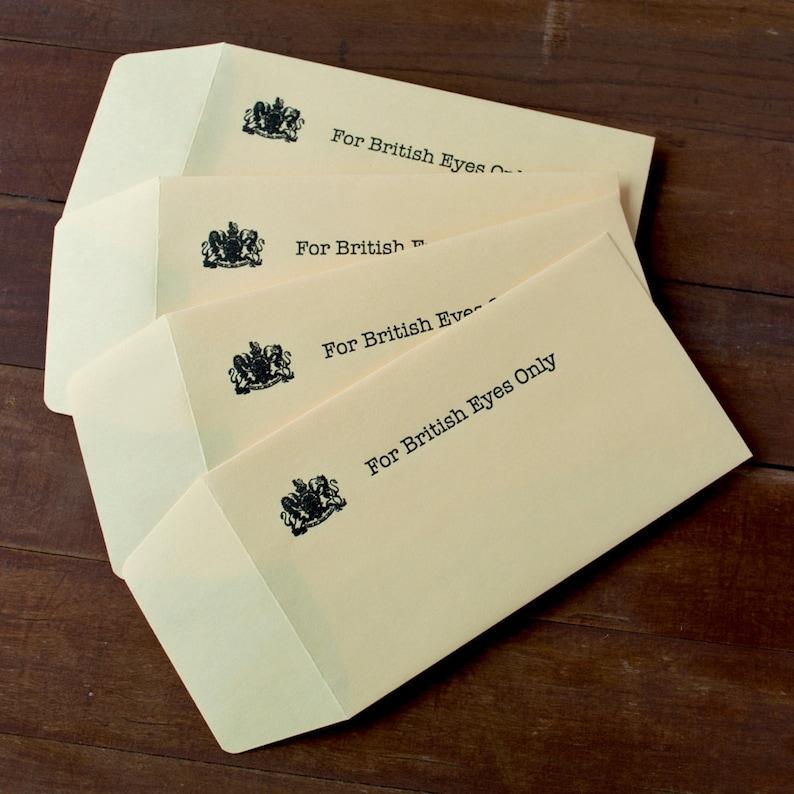 For British Eyes Only  Gift Card Holder  Arrested image 0