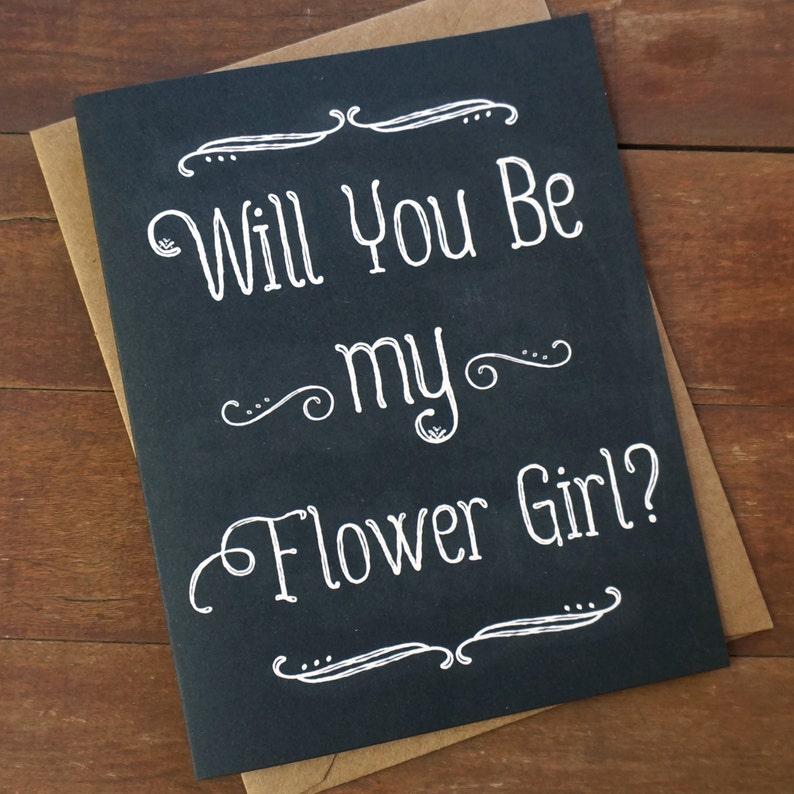 Will You Be My Flower Girl Card Flower Girl Invite Asking image 0
