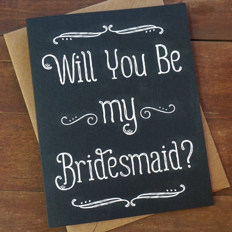 Will You Be My Bridesmaid Card Rustic Bridesmaid Invite image 0
