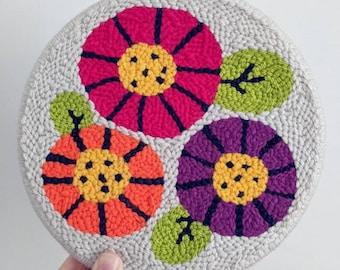 Colorblock Blooms - Beginner Punch Needle Kit