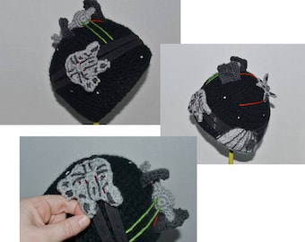 Interactive Star Wars Crochet Hat - Fly the Millenium Falcon Through a Space Battle! Death Star, X-Wing Fighter, and TIE Fighter