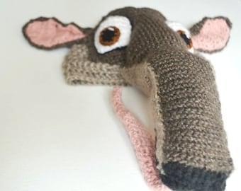 Crochet Anteater Hat - crochet cartoon hat - Rio movie character Charlie the Anteater hat - crochet hats for boys or girls