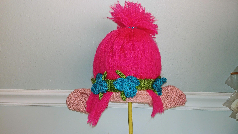 Crochet Troll Hat Princess Poppy Cartoon Costume Hat Etsy