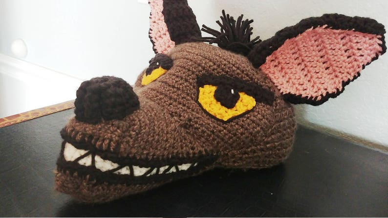Crochet Janja Hyena Hat Crochet Lion King Costume Hats Etsy