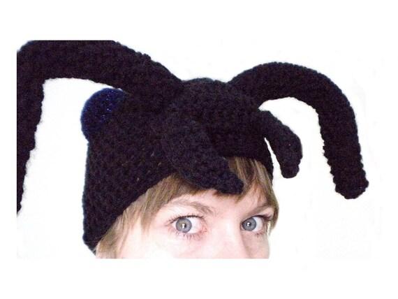 Häkeln Tier Hut schwarz Ant Hut mit Antennen und   Etsy