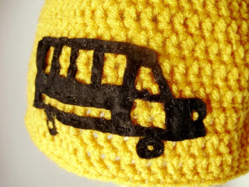 494db3515ec Crochet School Bus Hat in Yellow crochet beanies for men or