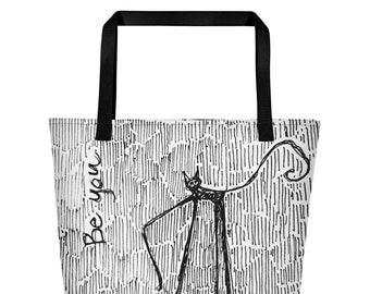Wiry Kitty - Big Tote Bag