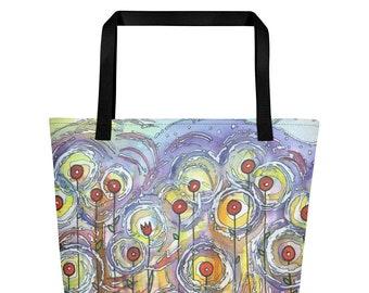 Radiant flowers - Big Tote Bag