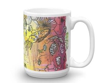 Cuttle fish Passion flower Mug