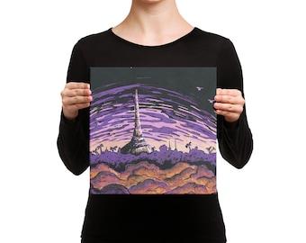 Karakas in Twilight - 12 x 12 Canvas Print