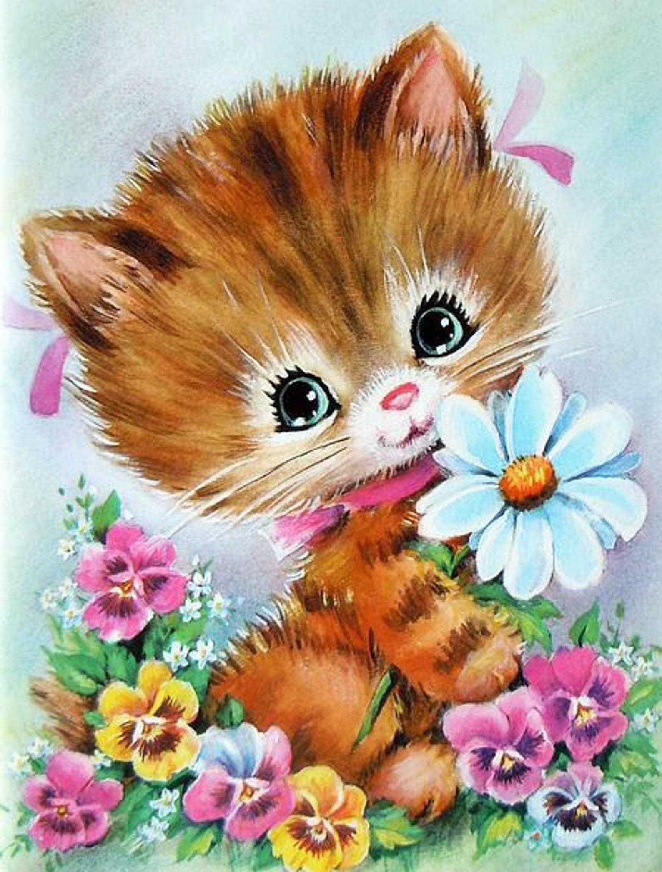 Школьная, котята анимация открытки