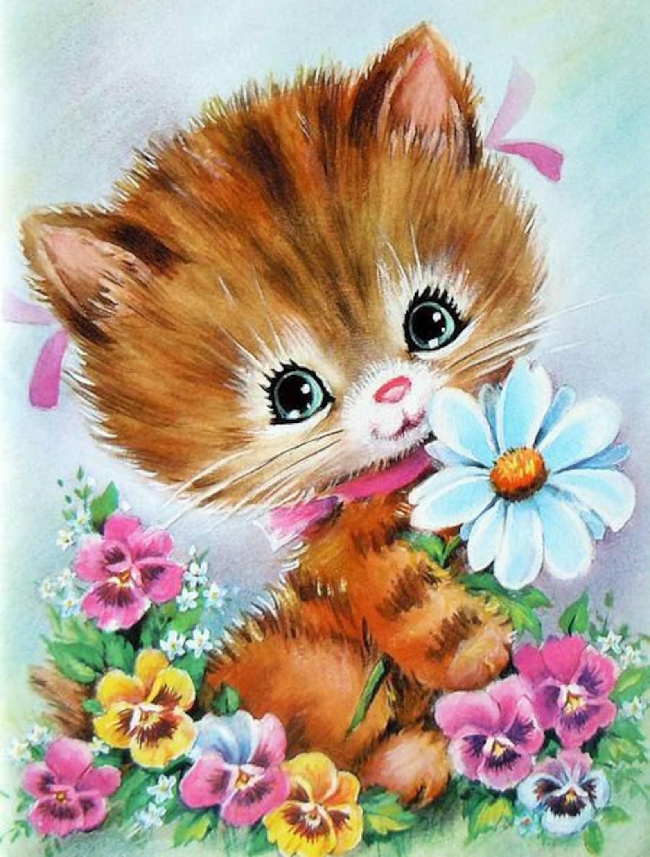 Открытки милый котик