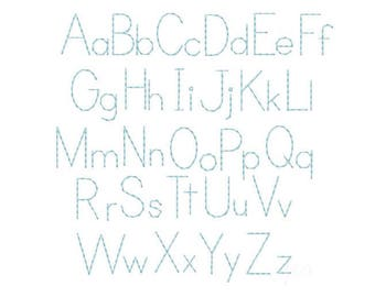 1 5 Gracie Handstitch Script Machine Embroidery Font | Etsy