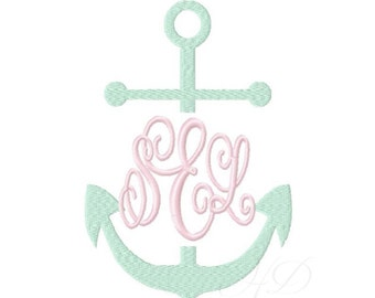 Split Anchor Embroidery Design Machine Embroidery Instant Download Monogram BX Instant download 4x4 5x7 6x10