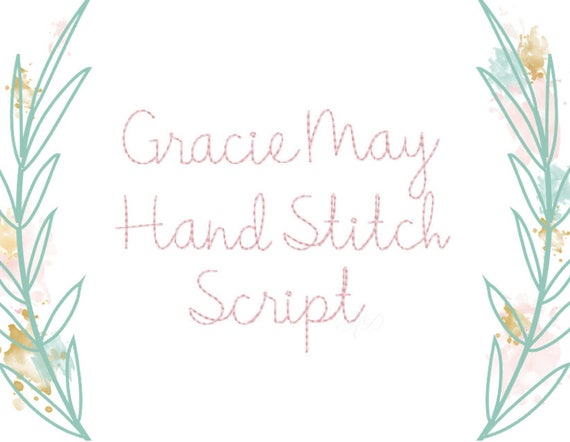 Rosemary Script Machine Embroidery Alphabet Font Designs