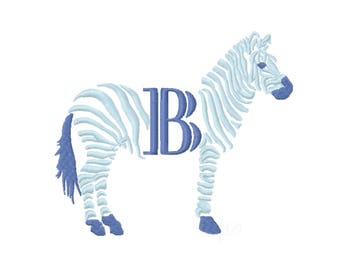 Chinoiserie Chic Zebra Monogram embroidery design Instant download 4x4 5x7 6x10 PES BX