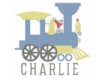 Vintage Steam Engine Train Christmas Fall Embroidery Design Instant download 4x4 5x7 6x10