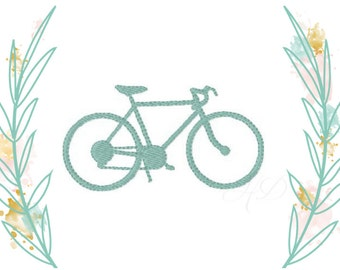 Bicycle Embroidery Design Nautical Machine Embroidery Monogram Font BX Instant Download 4x4 5x7 6x10