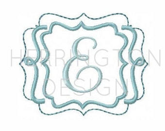 Embroidery Font Frame Applique Scroll Frame Applique Embroiderry File KG Frames and Borders instant download 4x4 5x7 6x10