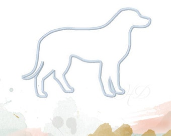 Dog Applique Design Machine Embroidery Frame 4x4 5x7 6x10 instant download