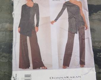 e0249540c77 Vintage Vogue 2064 DONNA KARAN Sewing Pattern Wrap Top and Pants Sewing  Pattern size 6 8 10 UNCUT