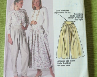 Vintage McCalls 4680 Misses Culotte Pants and Skirt sewing Pattern size 6 Waist 23 UNCUT