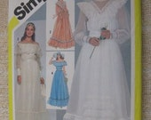 Vintage 80s Gunne Sax Bridal Bridesmaid Dress and Bag Pattern sz 6 UNCUT