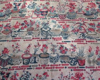 Alexander Henry Hachi Pots Cotton Fabric Yardage 33 x 44