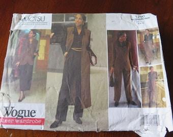 Vintage Vogue 1200 TAMOTSU American Designer Career Wardrobe size 6 8 10