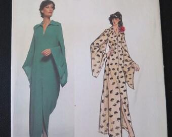 Vintage 70s VOGUE Paris Original 1536 Evening Dress by Pierre BALMAIN Sewing Pattern size 12 Uncut