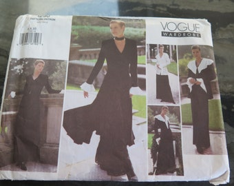 Vogue 1290 Misses Wardrobe Dress Top and Pants Sewing Pattern size 6 8 10 UNCUT