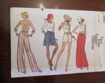 Vintage VOGUE 8862 Misses Pants or Shorts size 24