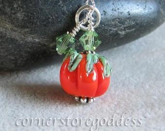 Magical Pumpkin Patch Pumpkin Charm Pendant by Cornerstoregoddess