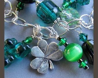 Shamrock Claddagh Celtic Knot St Patrick's Day Charm Bracelet by Cornerstoregoddess