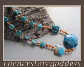 Creativity Gemstone Apatite Necklace by Cornerstoregoddess