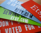 ETSY BUMPER STICKER PACK 4 pack