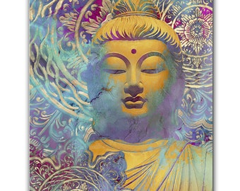 Light of Truth - Zen Buddha Art Canvas - Pastel Buddhist Art by Artist Christopher Beikmann