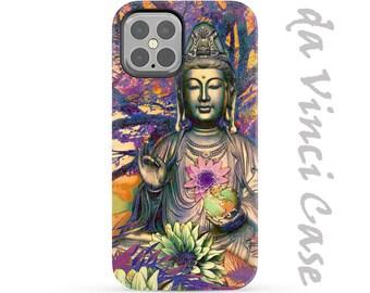 Kwan Yin Case for Apple iPhone 12 / 12 Mini / 12 Pro / 12 Pro Max - Zen Dual Layer Tough Case - Healing Nature