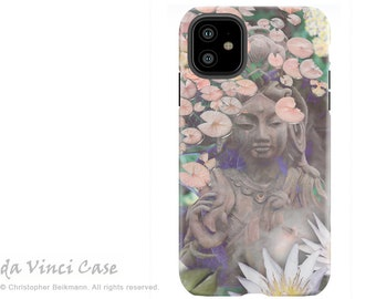 Pastel Kwan Yin Case for iPhone 11 / 11 Pro / 11 Pro Max - Zen Dual Layer Tough Case - Protective Cover for iPhone XI - Reflections
