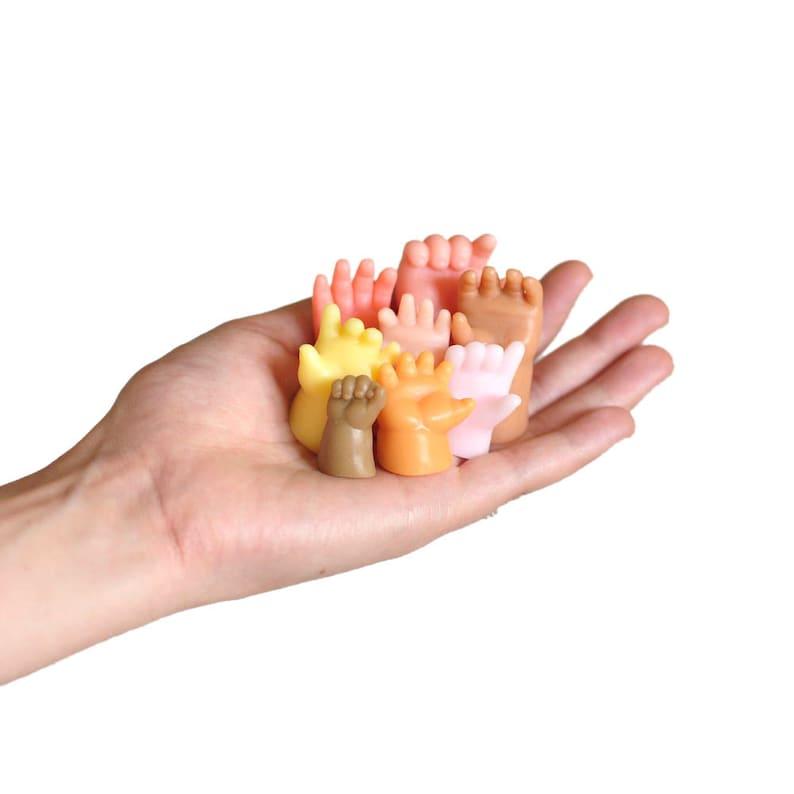 Handsoap  Set of 8 Doll-Hand-Shaped Soaps  Handmade image 0