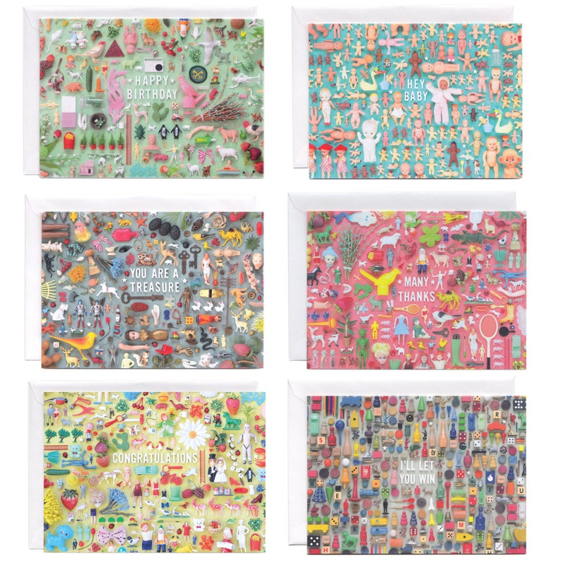 Tiny Things Collection Assorted Greeting Cards  Set 0f 6 Note image 0