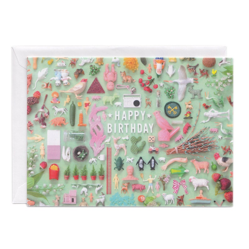 Tiny Things Birthday Collection Greeting Card  Happy image 0