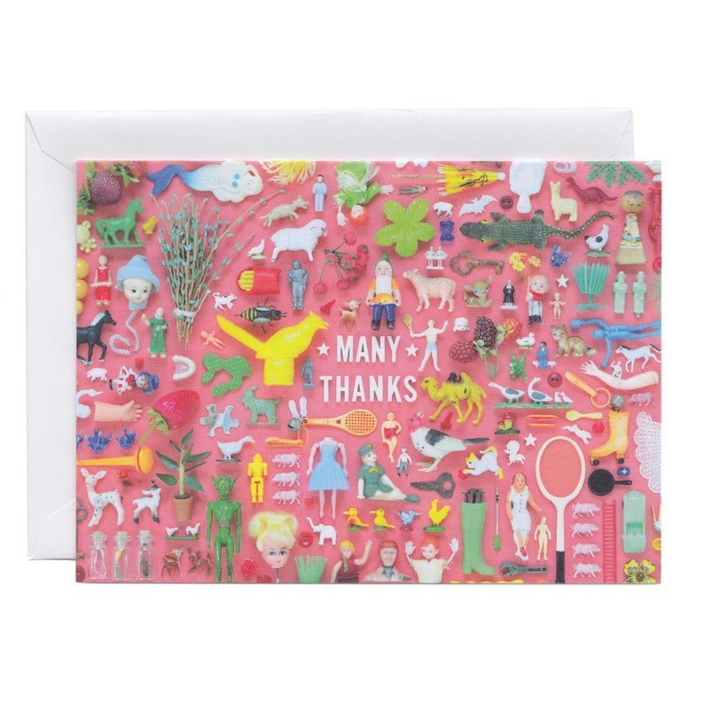 Tiny Things Thanks Collection Greeting Card  Happy Vintage image 0