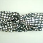 Silver turban headband, sequin, silver hair band, turban hair band, sparkly hair band, shimmer, silver sequin headband, disco ball, silver