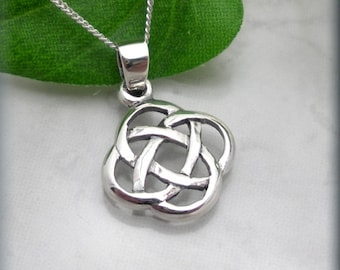 Irish Eternity Knot Necklace, Celtic Necklace, Birthay Gift for Her, Celtic Jewelry, Irish Jewelry, Sterling Silver