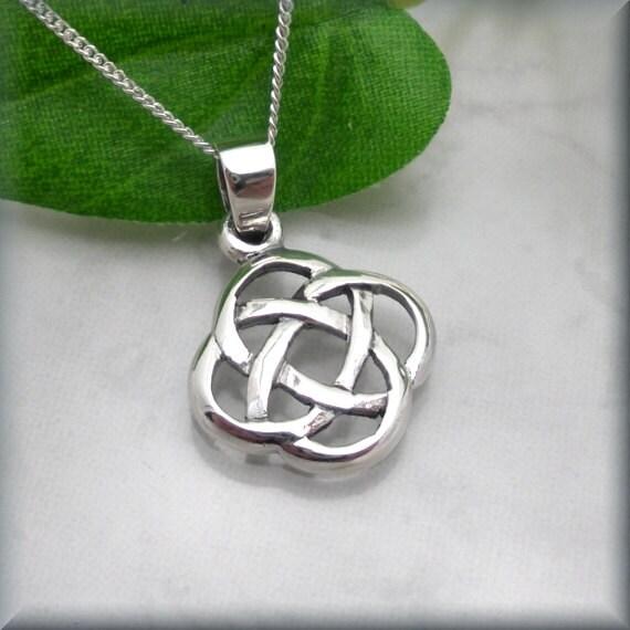 Irish Eternity Knot Necklace Celtic Necklace Birthay Gift Etsy