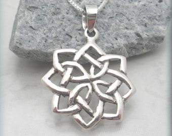 Celtic Necklace, Irish Jewelry, Irish Knot Pendant, Sterling Silver, Graduation Gift, Friendship Jewelry, Celtic Jewelry