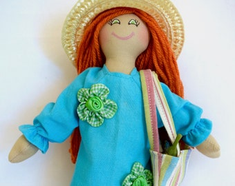Shopping Doll At Farmers Market - Kids Toy - Art Doll - Eco-Friendly