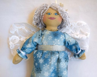 Winter Fairy Doll - Faerie Art Doll - Toy - One Of A Kind Gift