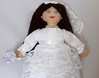 Bride Doll - Wedding Present - Flower Girl Gift - Handmade